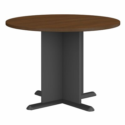 "Fairplex Circular 29.8""H x 41.38""W x 41.38""L Conference Table Finish: Cappucino Cherry/Hazelnut Brown"