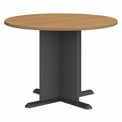 "Fairplex Circular 29.8""H x 41.38""W x 41.38""L Conference Table Finish: Light Oak"