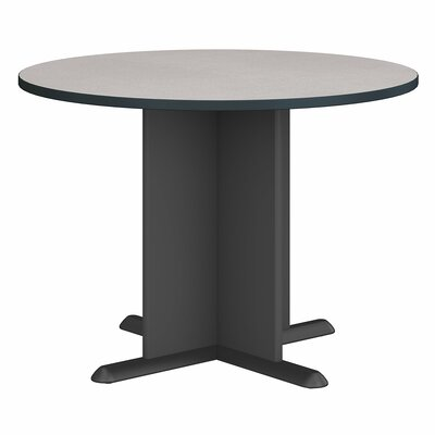 "Fairplex Circular 29.8""H x 41.38""W x 41.38""L Conference Table Finish: Slate"