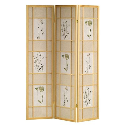 Winfield Room Divider Color: Natural, Number of Panels: 3