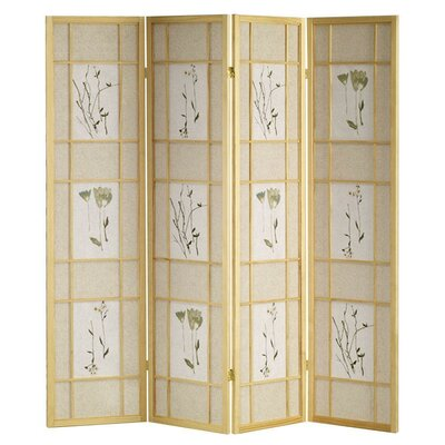 Winfield Room Divider Color: Natural, Number of Panels: 4