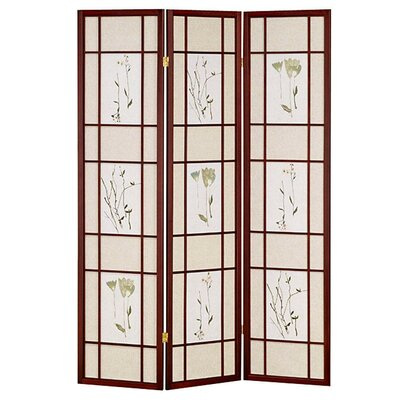 Winfield Room Divider Color: Cherry, Number of Panels: 3