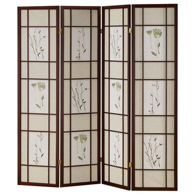 Winfield Room Divider Color: Cherry, Number of Panels: 4
