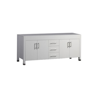 "Predmore 60"" Double Bathroom Vanity Base Base Finish: White"