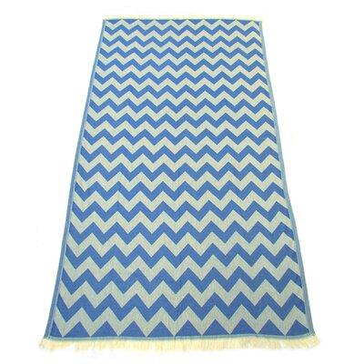 Jacquard Pestemal Turkish Cotton Beach Towel Color: Navy Blue