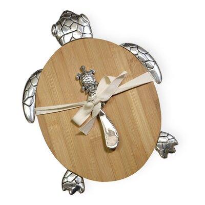 Bamboo Sea Turtle Cutting Board & Spreader Set
