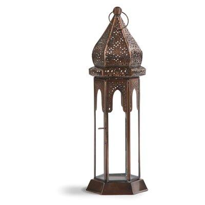 Ivyline Firefly Wide Moroccan Metal Lantern