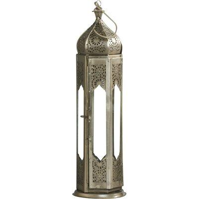 Ivyline Firefly Tall Moroccan Metal Lantern