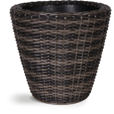 Ivyline Rattan Round Pot Planter