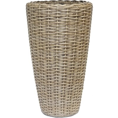Ivyline Rattan Round Pot Planter