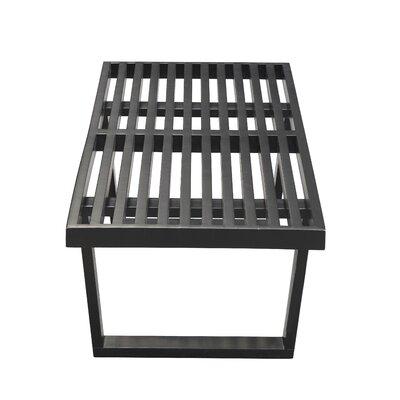 """Wood Bench Color: Black, Size: 14"""" H x 48"""" W x 18"""" D"""