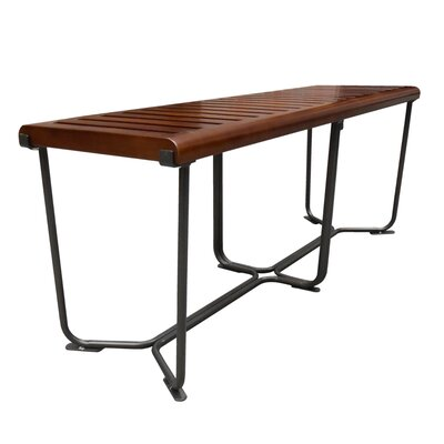 "Solid Wood Bench Size: 18.5"" H x 48"" W x 14"" D"