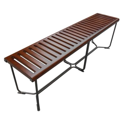 "Solid Wood Bench Size: 18.5"" H x 60"" W x 14"" D"
