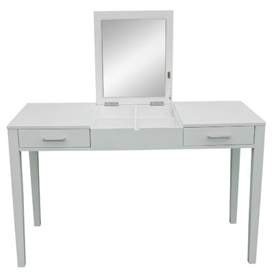 Homcom 2 Drawer Dressing Table with Mirror
