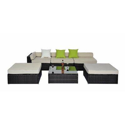 Homcom 7 Seater Corner Sectional Sofa Set with Cushions