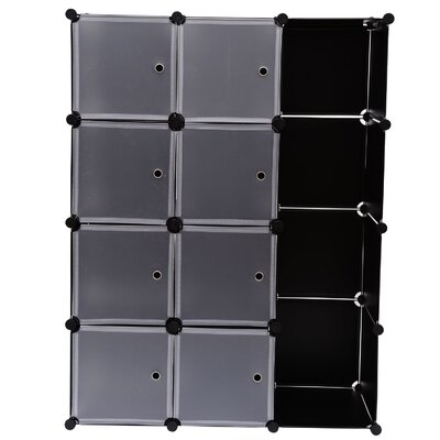Homcom Storage Cube Shoe Rack with Removable Doors