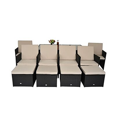 Homcom 10 Seater Dining Set with Cushions