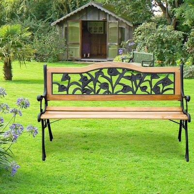 Homcom 2 Seater Wooden Bench