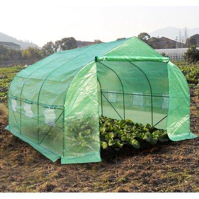 Homcom Polytunnel Greenhouse in Dark Green