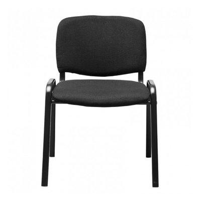 Homcom Armless Steel Stacking Chair with Cushion