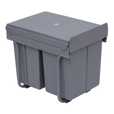 Homcom 40-Litre Recycle Waste Bin with Pull Out