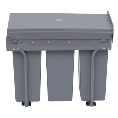 Homcom 30-Litre Recycle Waste Bin with Pull Out