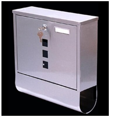 Homcom Letterbox with Lock and Newspaper Holder