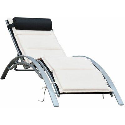 Homcom Adjustable Sun Lounger with Cushion
