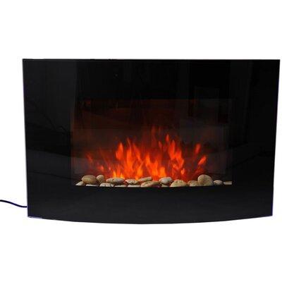Homcom Curved Glass Electric Fireplace
