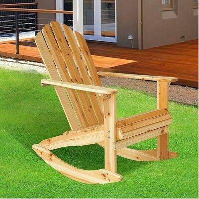 Homcom Garden Adirondack Rocking Chair