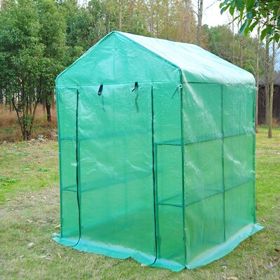 Homcom Walk in Greenhouse in Dark Green