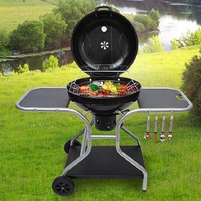 Homcom Charcoal Barbecue with Side Shelf IV