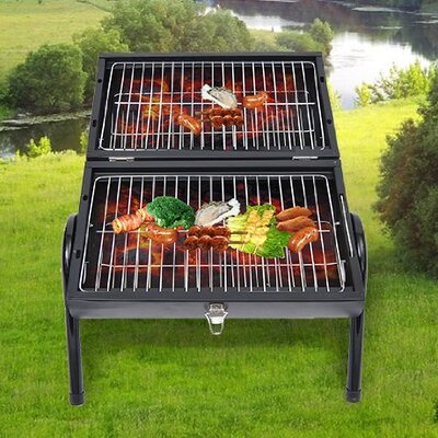 Homcom Portable Charcoal Barbecue