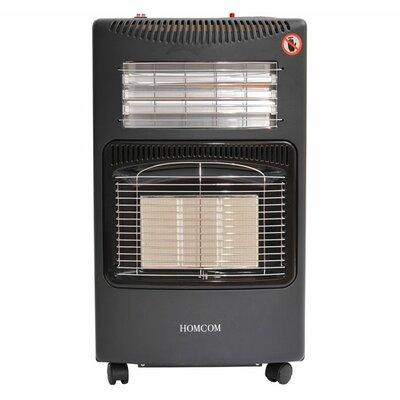 Homcom Portable Gas or Electric Fireplace
