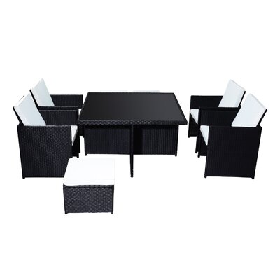 Homcom Outsunny 8 Seater Dining Set with Cushions