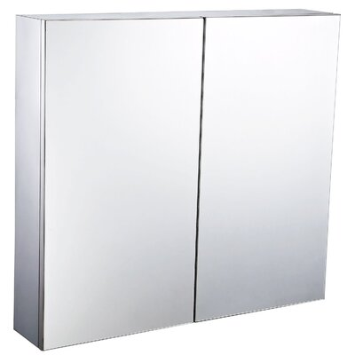 Homcom 60 x 55cm Surface Mount Flat Mirror Cabinet