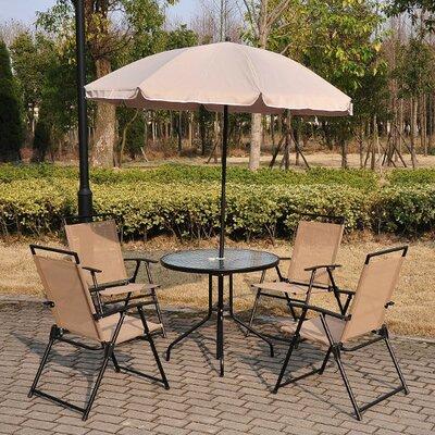 Homcom Outsunny 4 Seater Dining Set wtih Parasol
