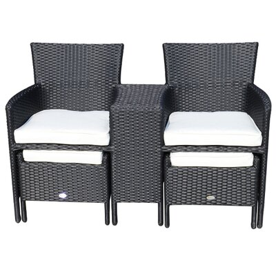 Homcom Outsunny 2 Seater Conversation Set with Cushions
