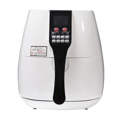 Homcom 1400 W Fat Free Rapid Healthier Electric Air Fryer with LCD 7 Modes Grill Oven