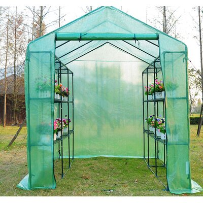 Homcom Outsunny 6 Ft. W x 8 Ft. D Cold Frame Greenhouse