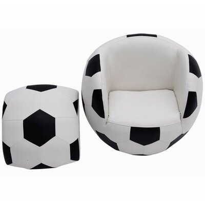 Homcom Armchair with Stool