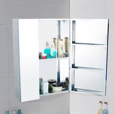 Homcom 43 x 59cm Surface Mount Flat Mirror Cabinet