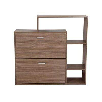 Homcom 2 Drawer 3 Shelf Stand Shoe Cabinet Storage Rack Organizer Shelf
