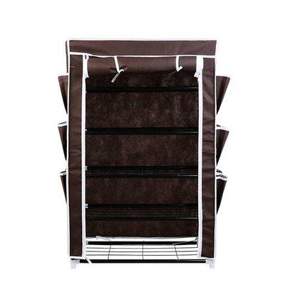 Homcom 5 Tier Shoe Rack Stand Canvas Cabinet Closet Storage Organiser Standing Shelf