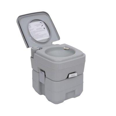 Homcom Portable Travel Mobile Camping Handle Toilet
