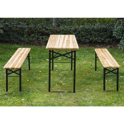 Homcom Outsunny Wood Picnic Bench Set