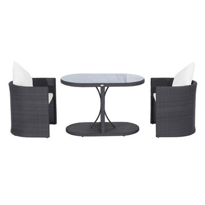 Homcom Outsunny 2 Seater Bistro Set with Cushions