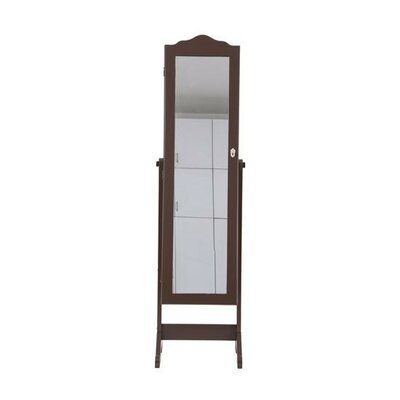Homcom Floor Standing Jewellery Cabinet with Mirror Dressing Organiser Wardrobe