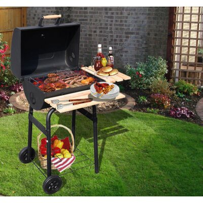 Homcom Charcol Barbecue with Side Shelf