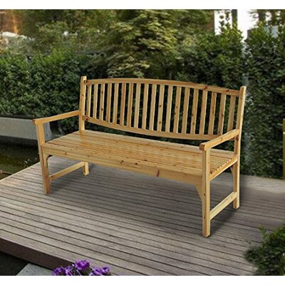 Homcom 3 Seater Wooden Bench